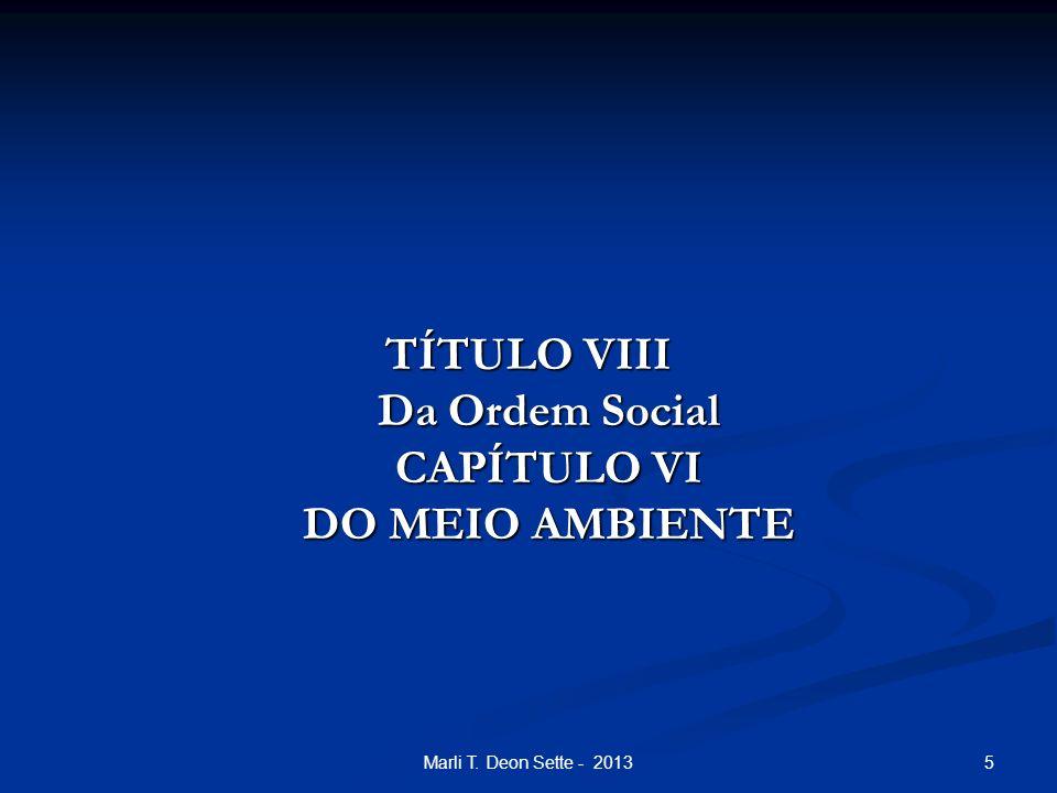 TÍTULO VIII Da Ordem Social CAPÍTULO VI DO MEIO AMBIENTE