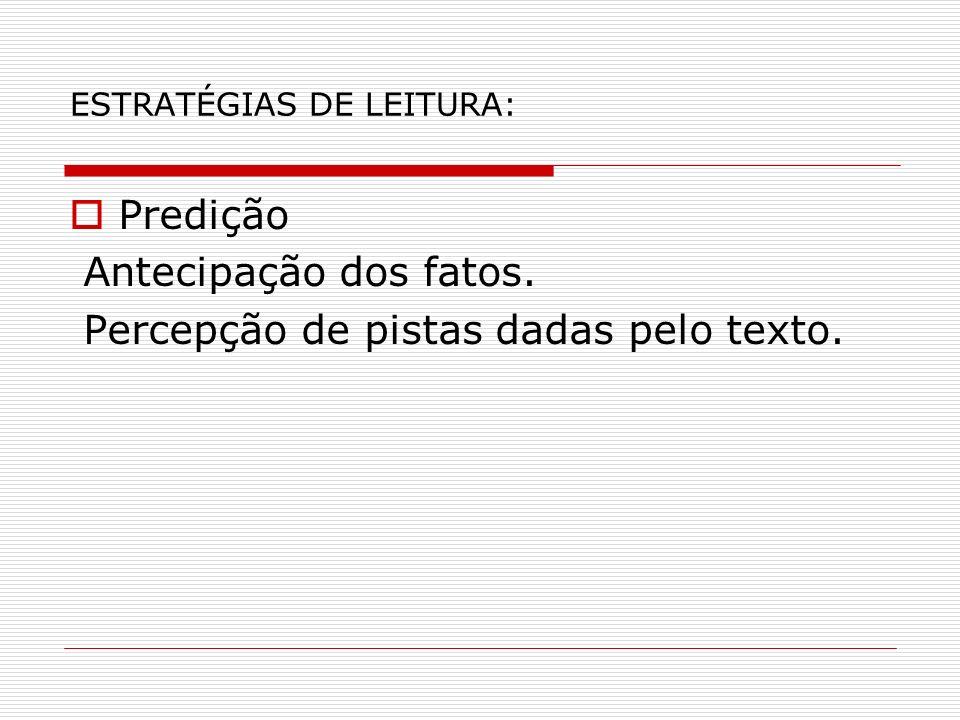 ESTRATÉGIAS DE LEITURA: