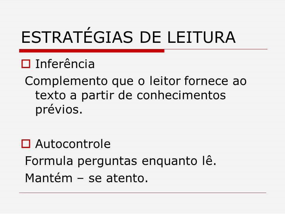 ESTRATÉGIAS DE LEITURA