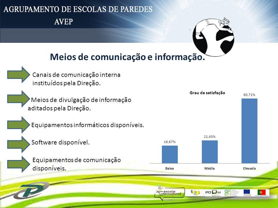 Meios de comunicação e informação.