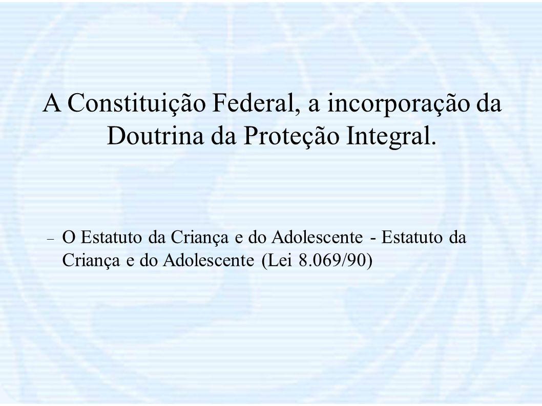 A Constituição Federal, a incorporação da Doutrina da Proteção Integral.