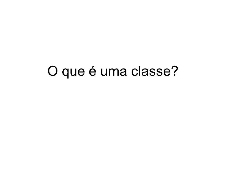 O que é uma classe