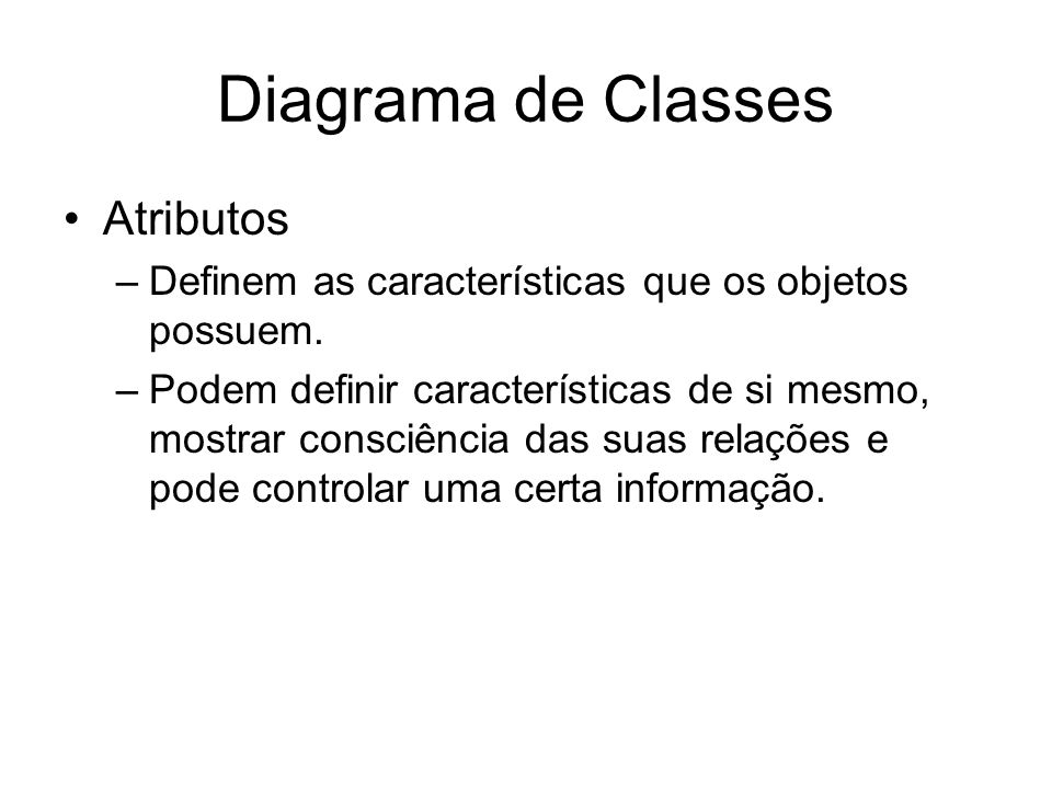 Diagrama de Classes Atributos