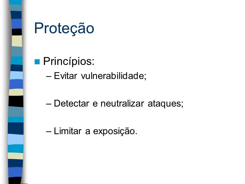Proteção Princípios: Evitar vulnerabilidade;