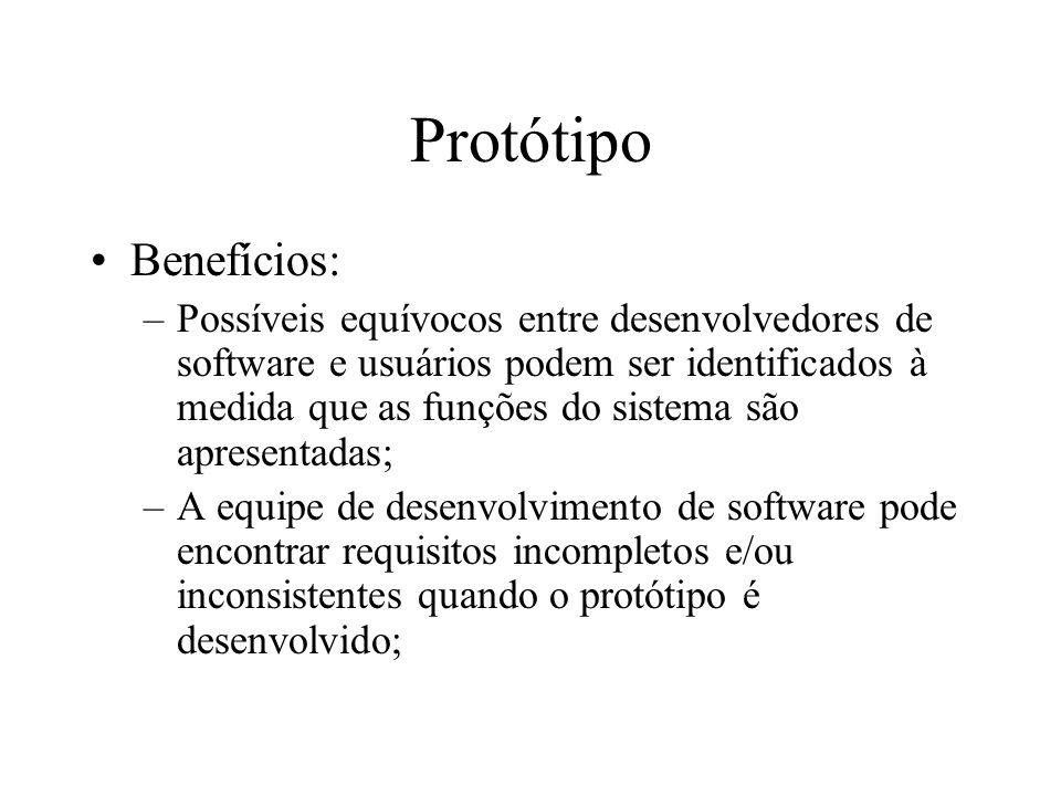 Protótipo Benefícios: