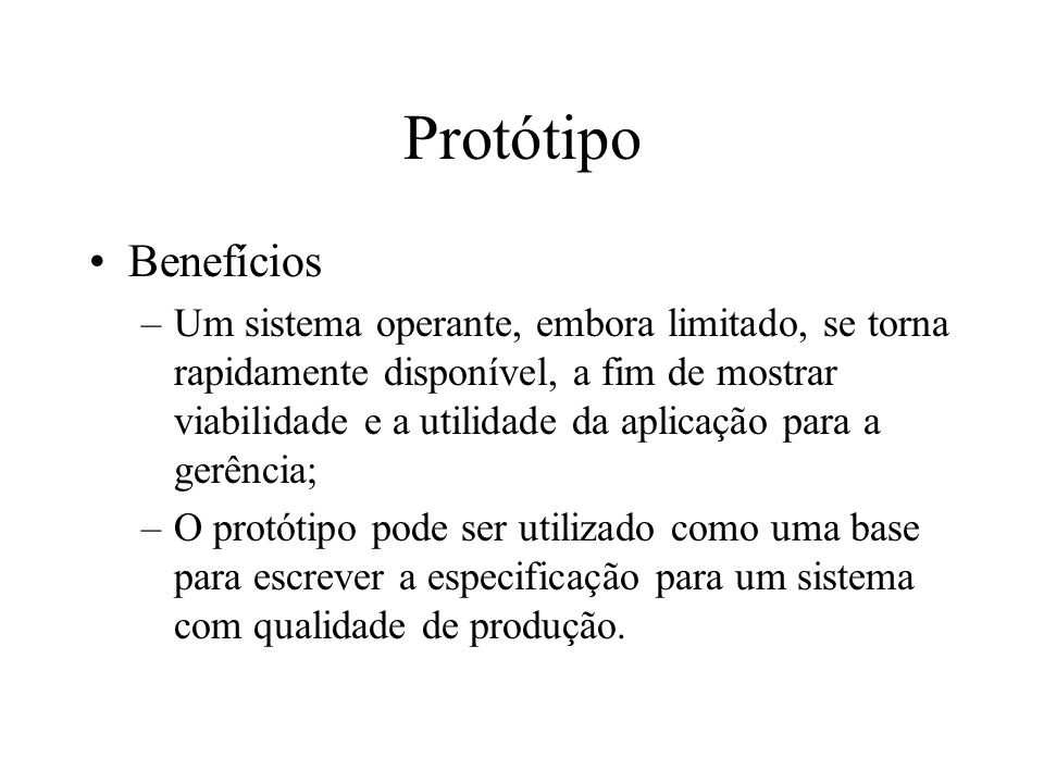 Protótipo Benefícios.
