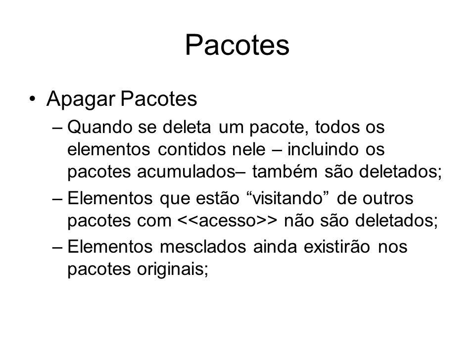 Pacotes Apagar Pacotes