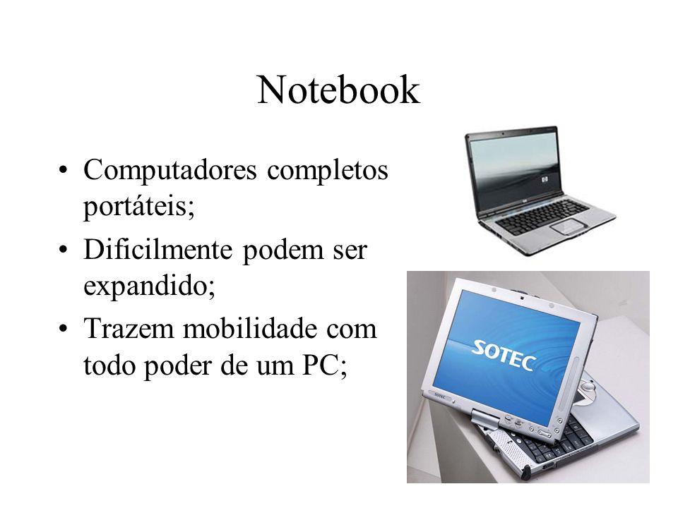 Notebook Computadores completos portáteis;