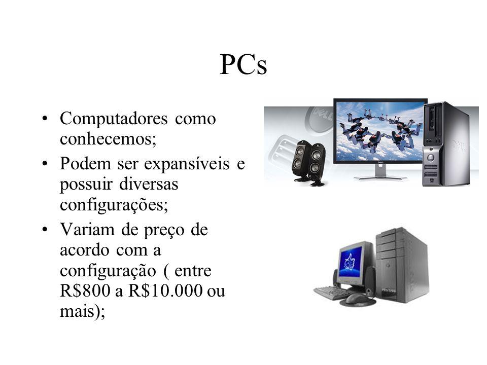 PCs Computadores como conhecemos;