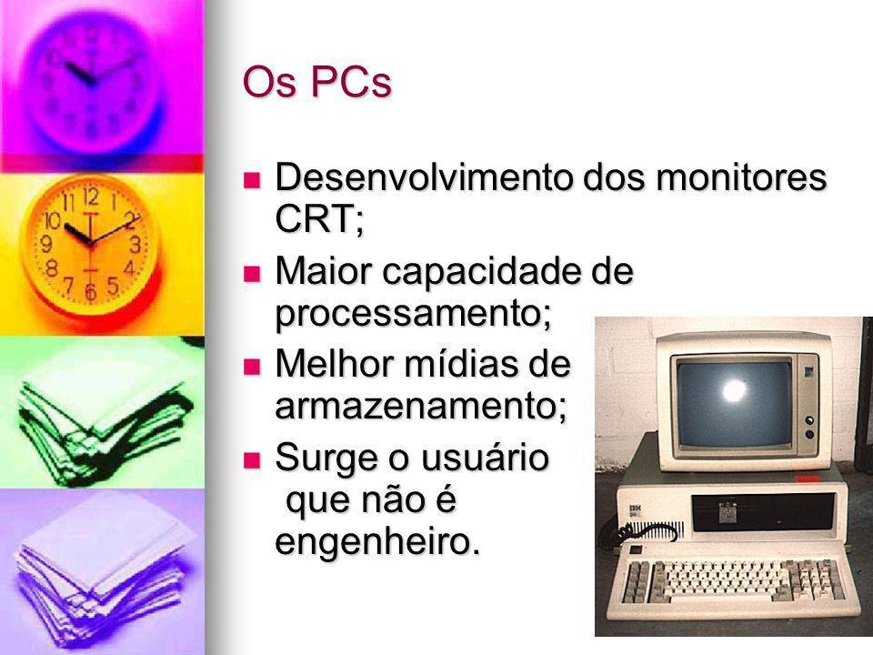 Os PCs Desenvolvimento dos monitores CRT;