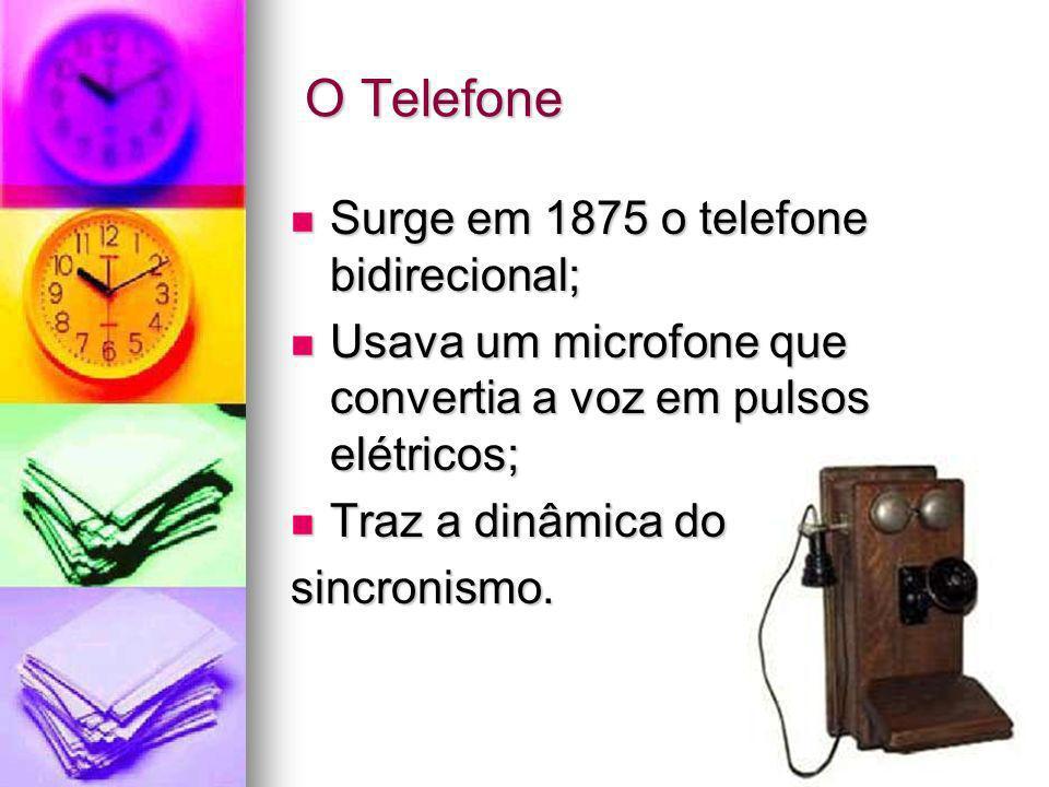 O Telefone Surge em 1875 o telefone bidirecional;