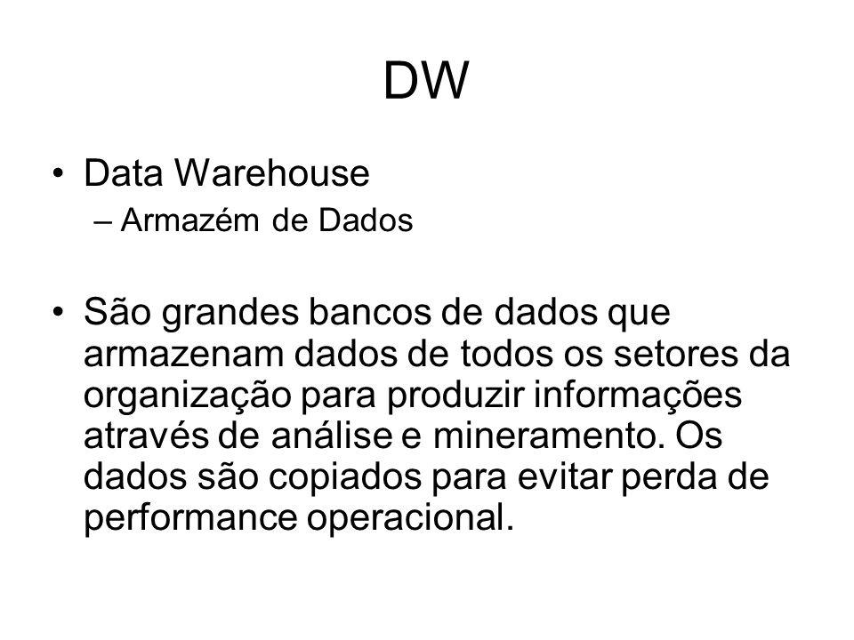 DW Data Warehouse. Armazém de Dados.