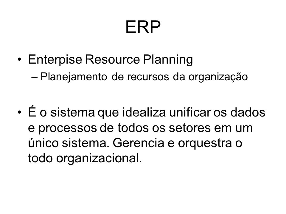 ERP Enterpise Resource Planning