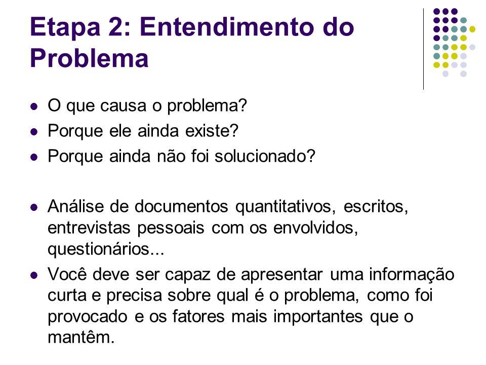 Etapa 2: Entendimento do Problema