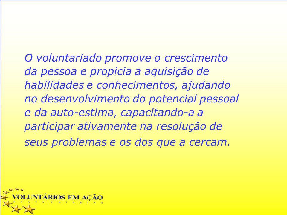 O voluntariado promove o crescimento