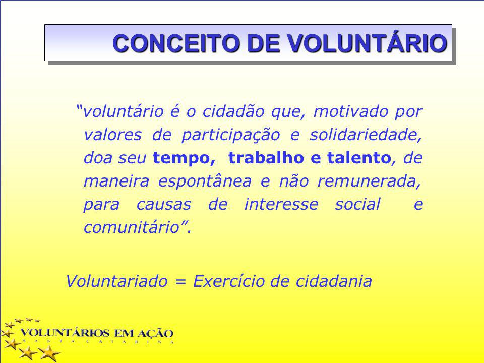 CONCEITO DE VOLUNTÁRIO