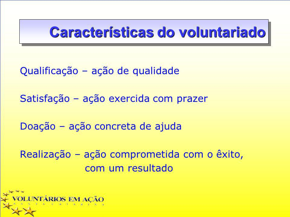 Características do voluntariado