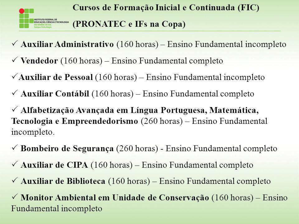 Cursos de Formação Inicial e Continuada (FIC)