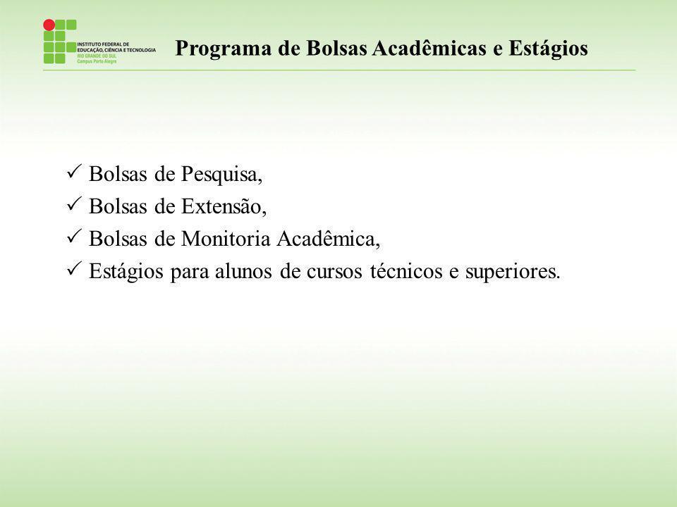 Programa de Bolsas Acadêmicas e Estágios