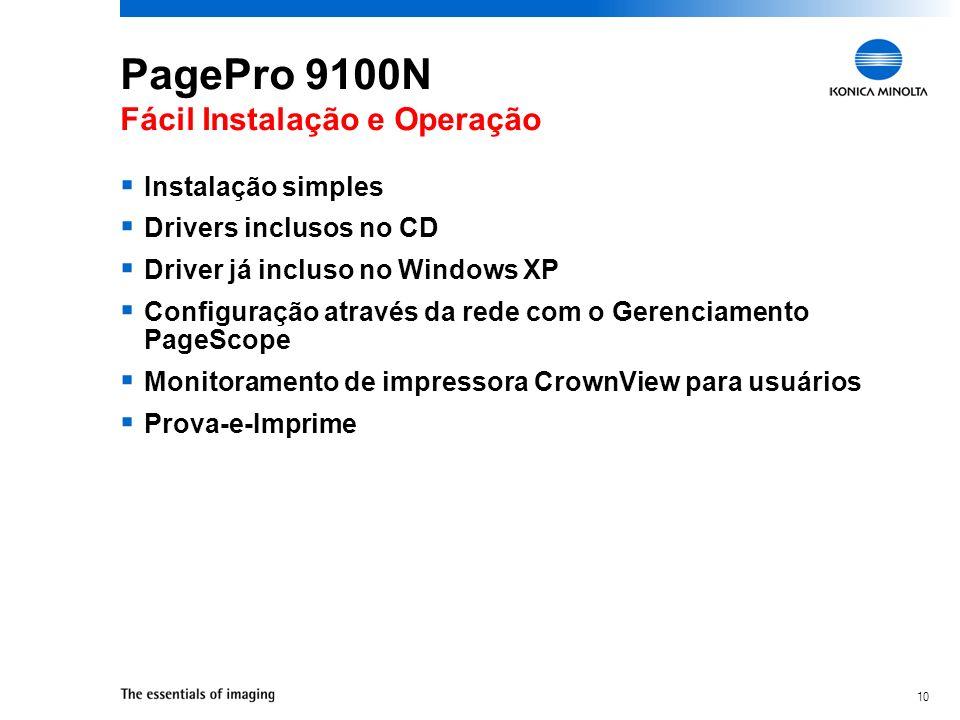 PagePro 9100N Fácil Instalação e Operação