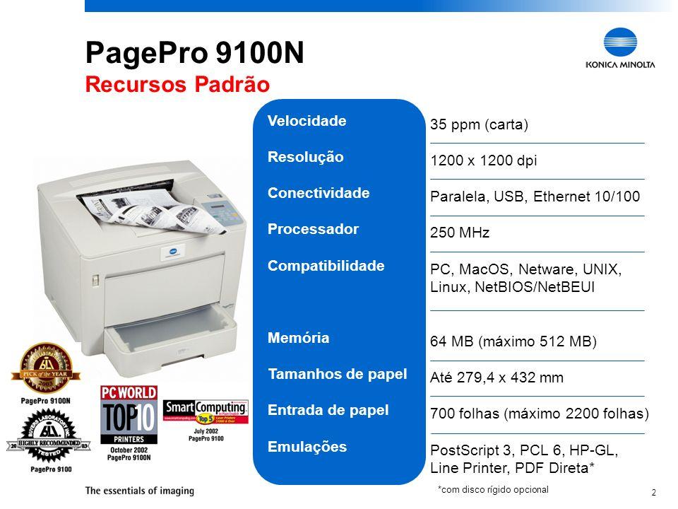 PagePro 9100N Recursos Padrão