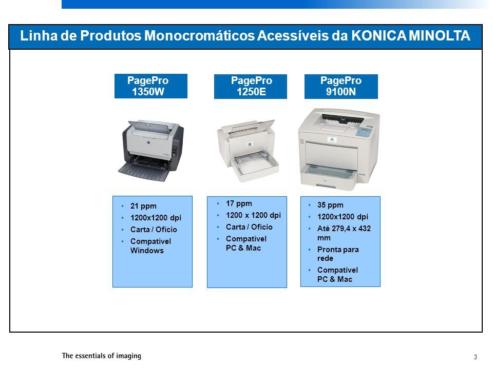 Linha de Produtos Monocromáticos Acessíveis da KONICA MINOLTA