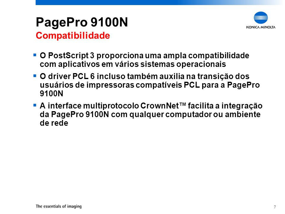 PagePro 9100N Compatibilidade
