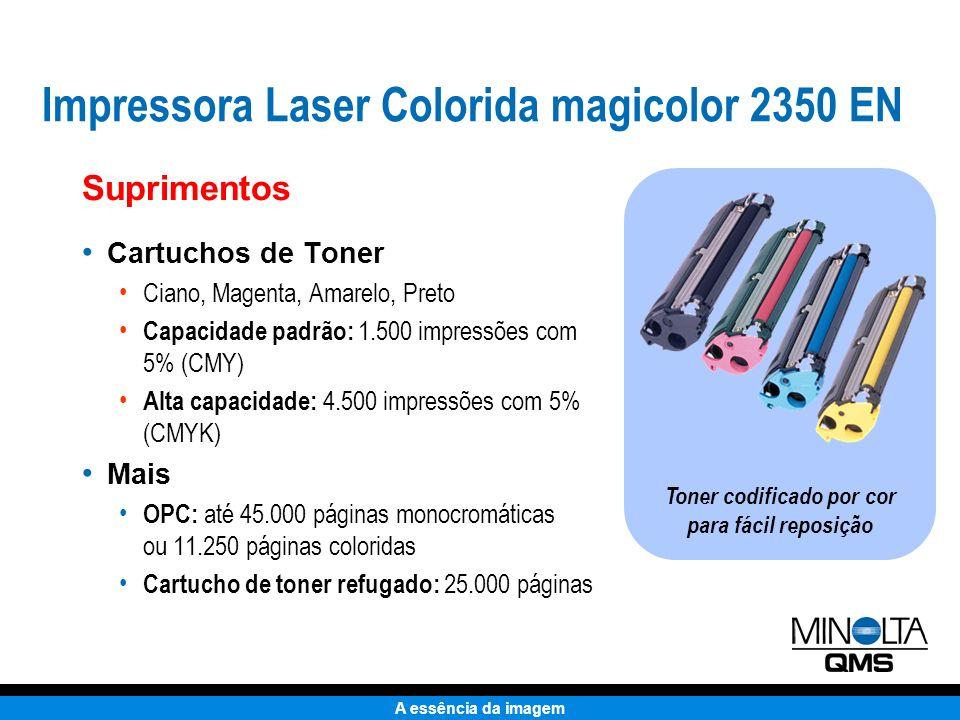 Toner codificado por cor para fácil reposição