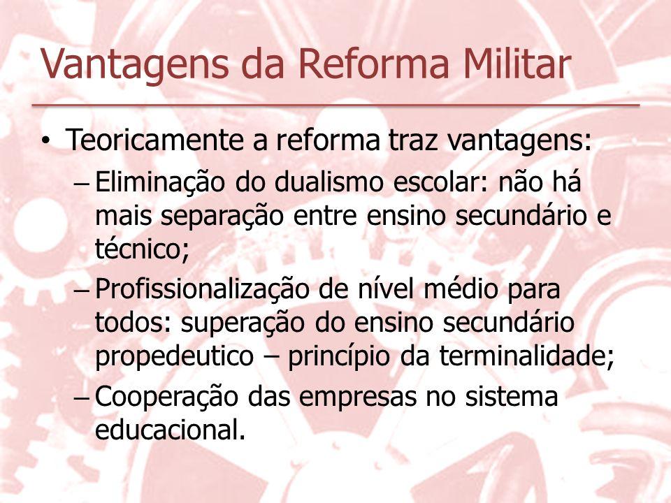 Vantagens da Reforma Militar