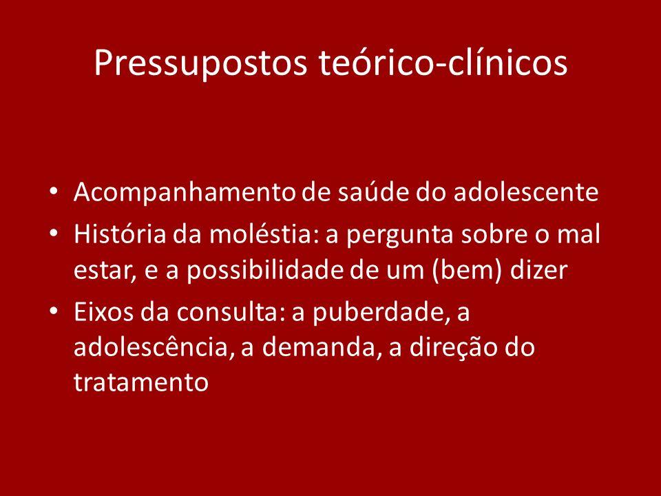 Pressupostos teórico-clínicos