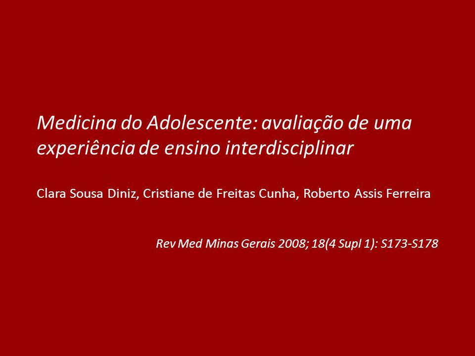 Medicina do Adolescente: avaliação de uma experiência de ensino interdisciplinar