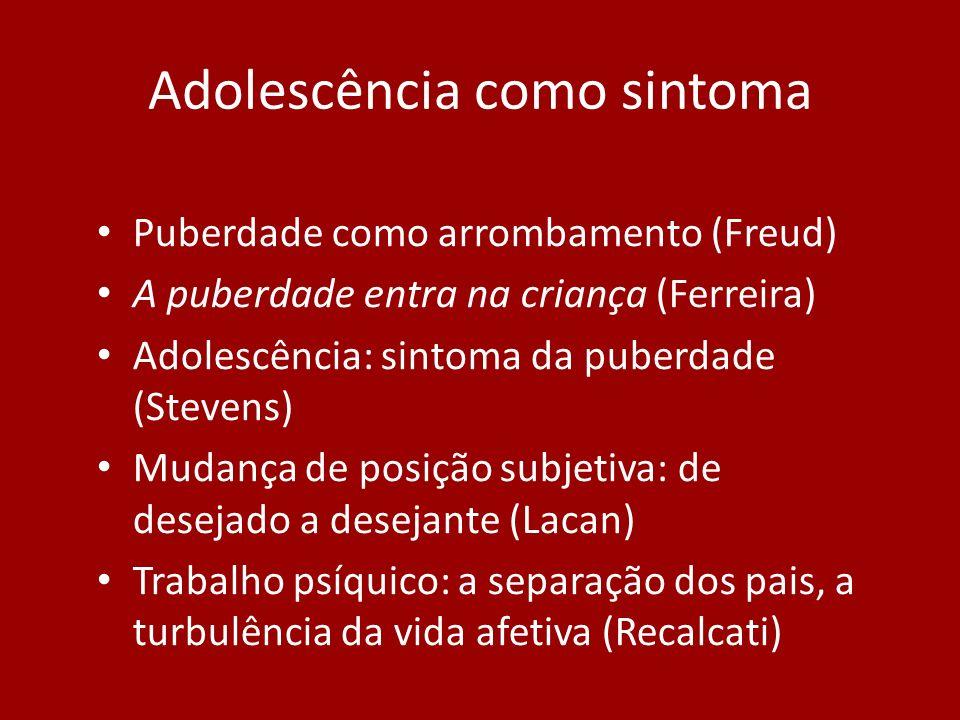 Adolescência como sintoma