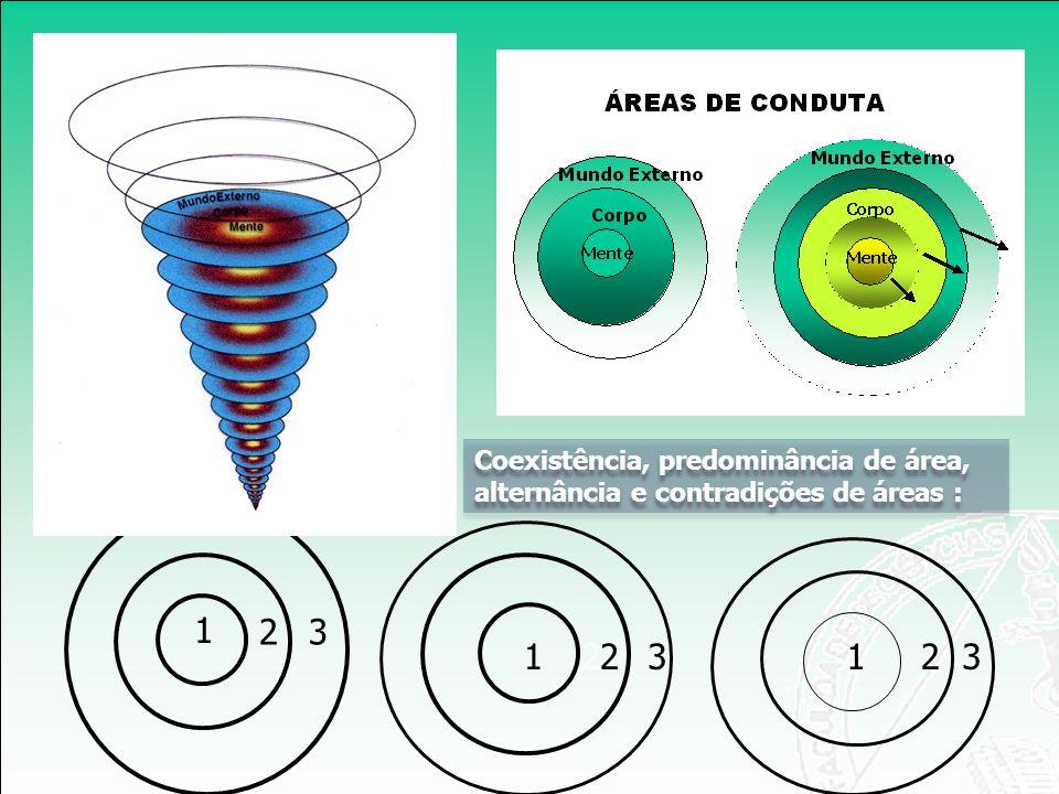Coexistência, predominância de área, alternância e contradições de áreas :