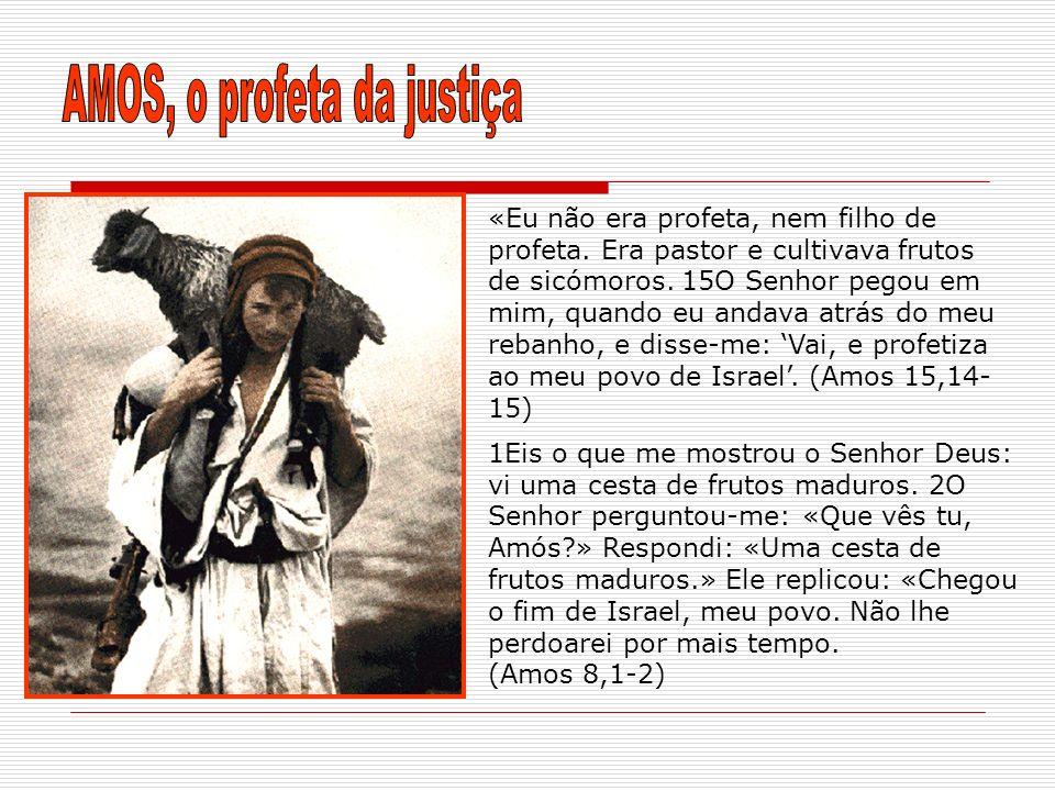 AMOS, o profeta da justiça