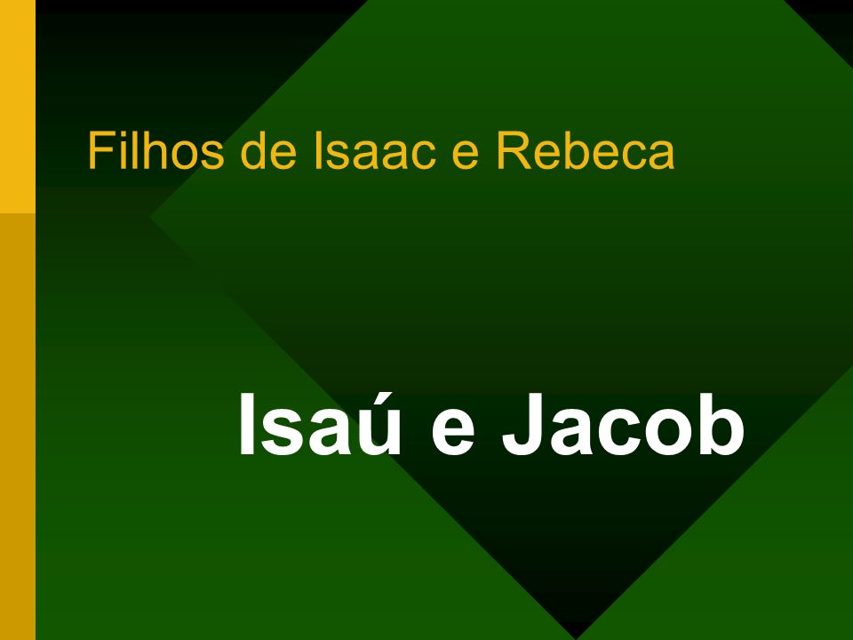 Filhos de Isaac e Rebeca