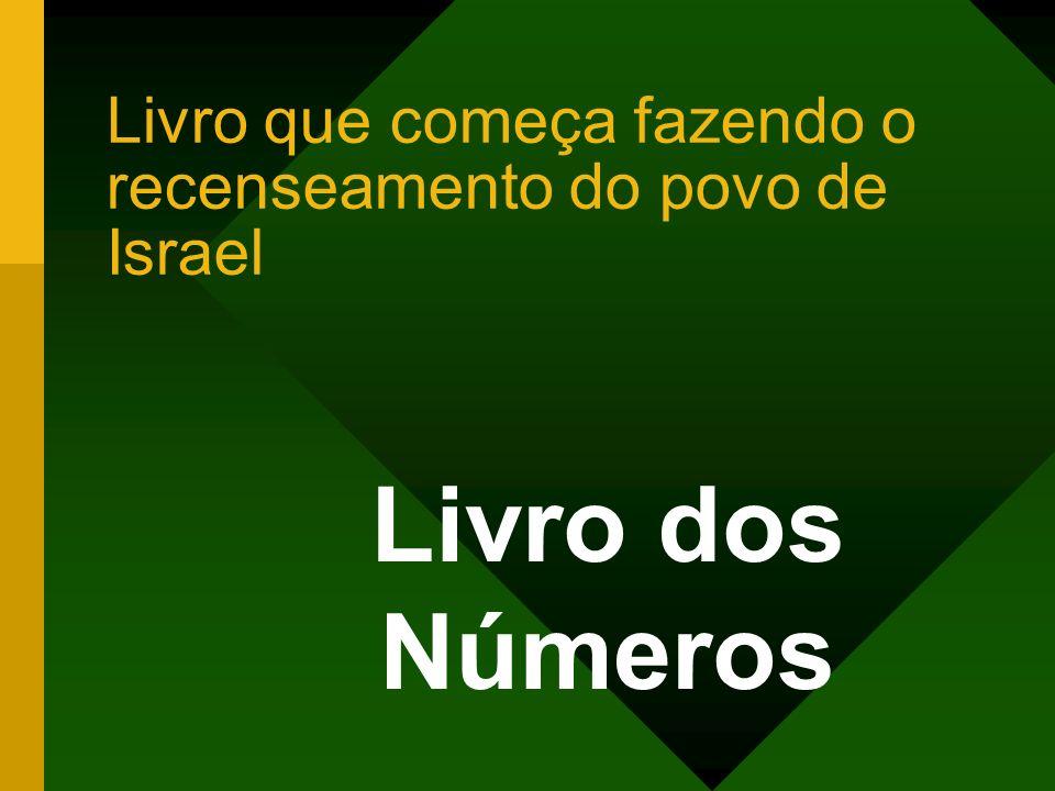 Livro que começa fazendo o recenseamento do povo de Israel