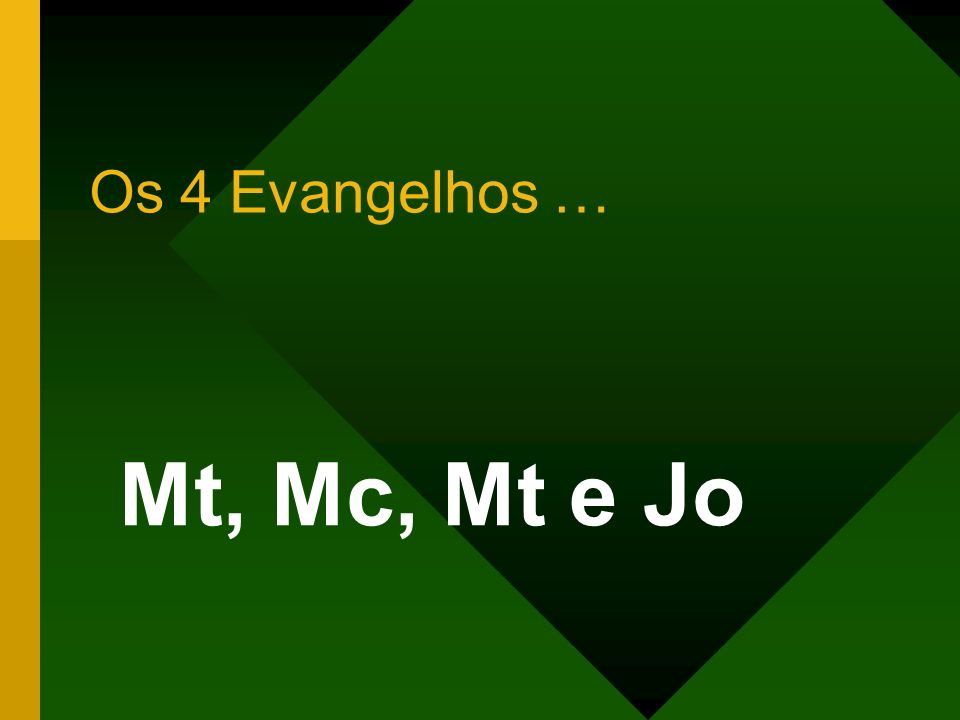Os 4 Evangelhos … Mt, Mc, Mt e Jo