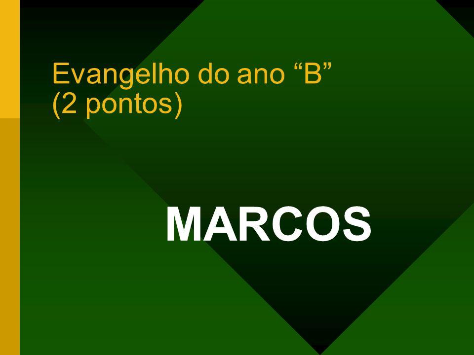 Evangelho do ano B (2 pontos)