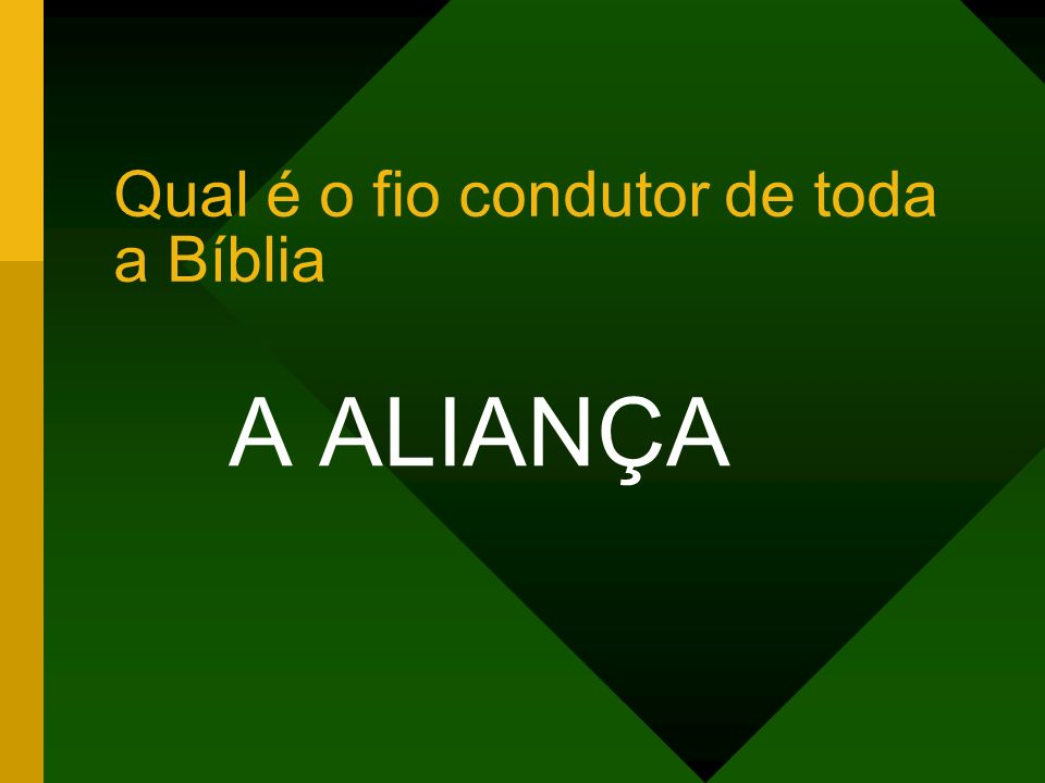 Qual é o fio condutor de toda a Bíblia