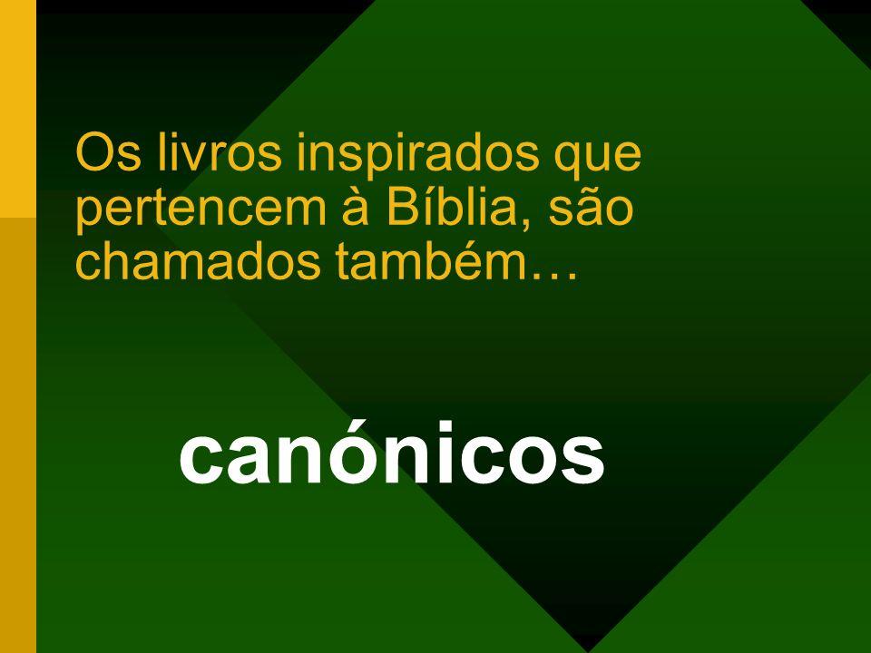 Os livros inspirados que pertencem à Bíblia, são chamados também…