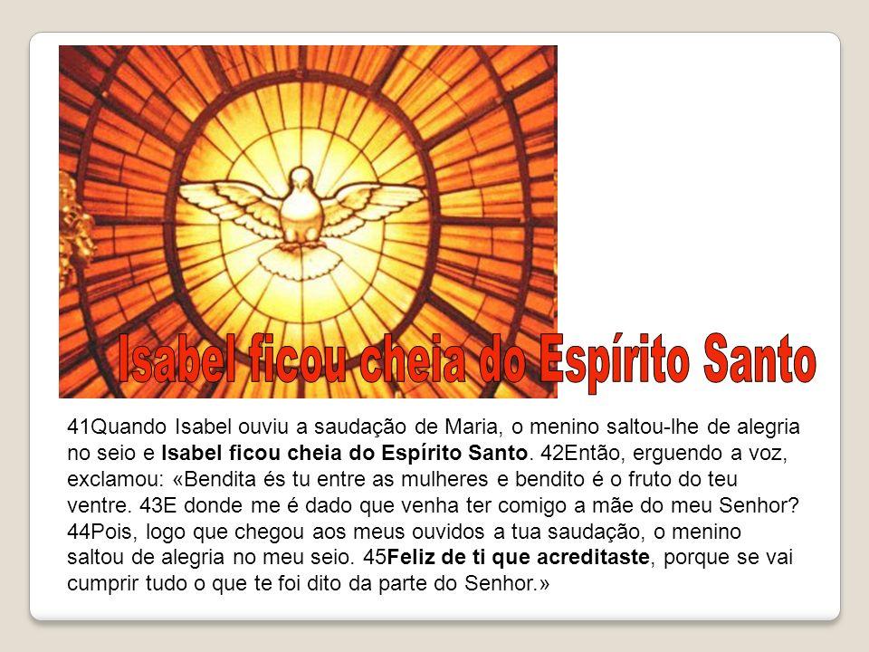 Isabel ficou cheia do Espírito Santo