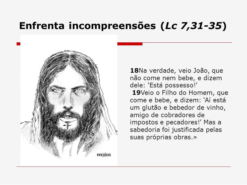Enfrenta incompreensões (Lc 7,31-35)