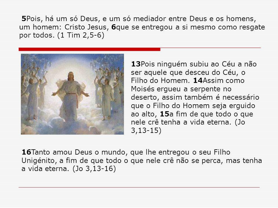 5Pois, há um só Deus, e um só mediador entre Deus e os homens,