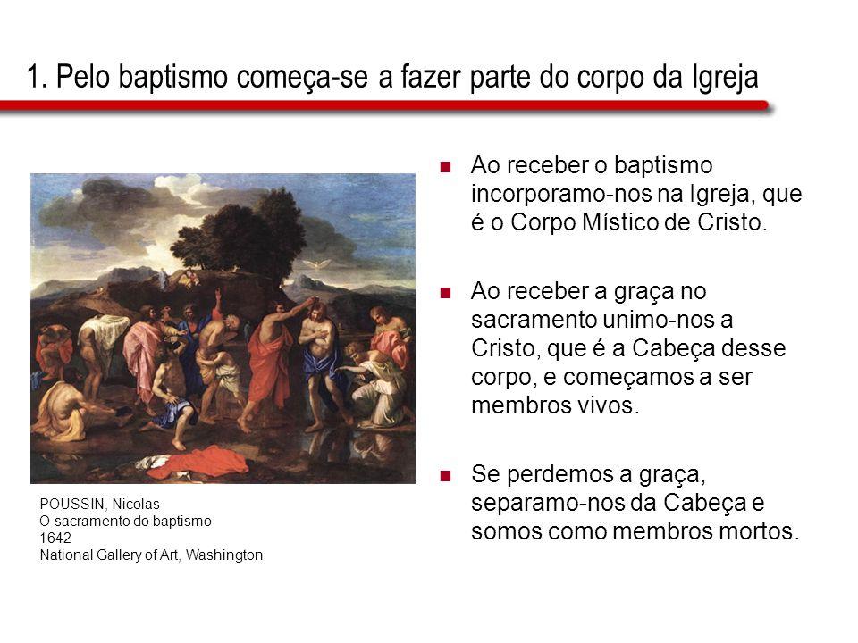 1. Pelo baptismo começa-se a fazer parte do corpo da Igreja
