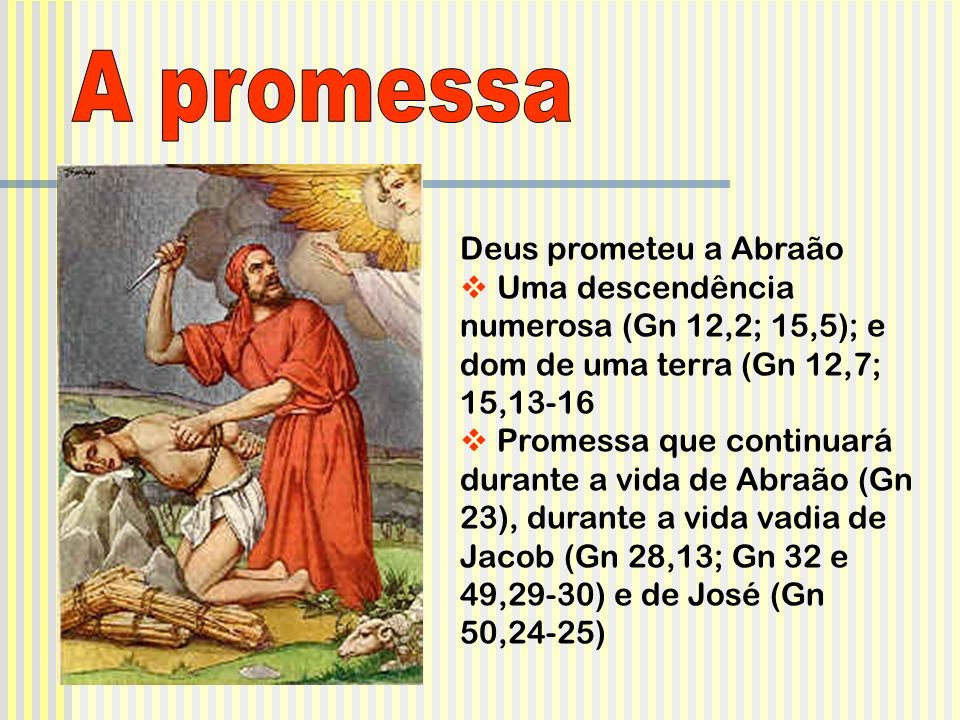 A promessa Deus prometeu a Abraão