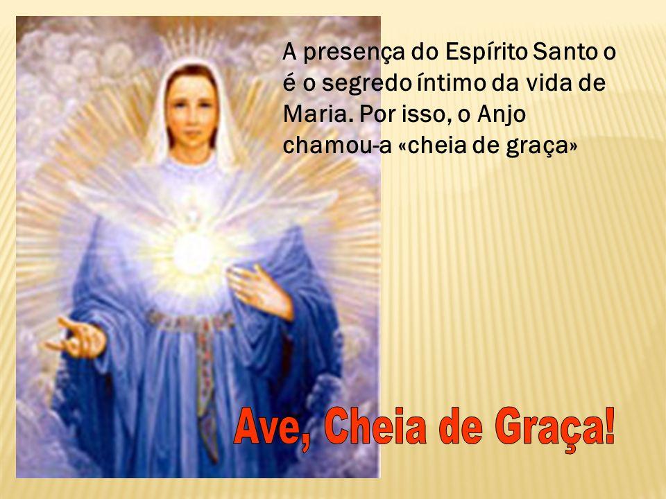 A presença do Espírito Santo o é o segredo íntimo da vida de Maria