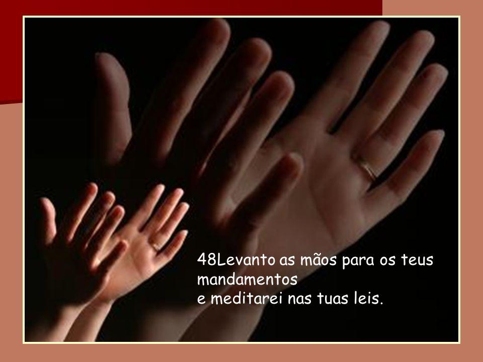 48Levanto as mãos para os teus mandamentos