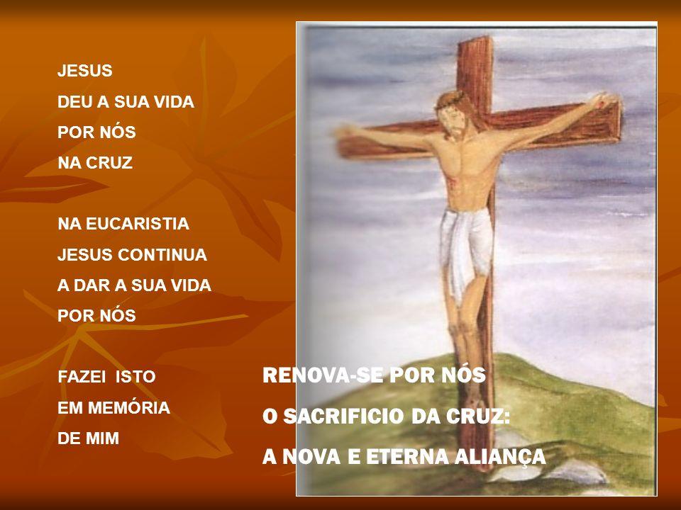 RENOVA-SE POR NÓS O SACRIFICIO DA CRUZ: A NOVA E ETERNA ALIANÇA JESUS