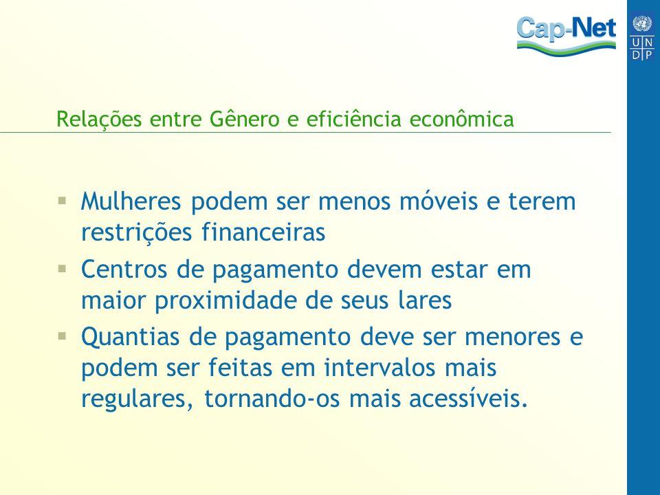 Relações entre Gênero e eficiência econômica