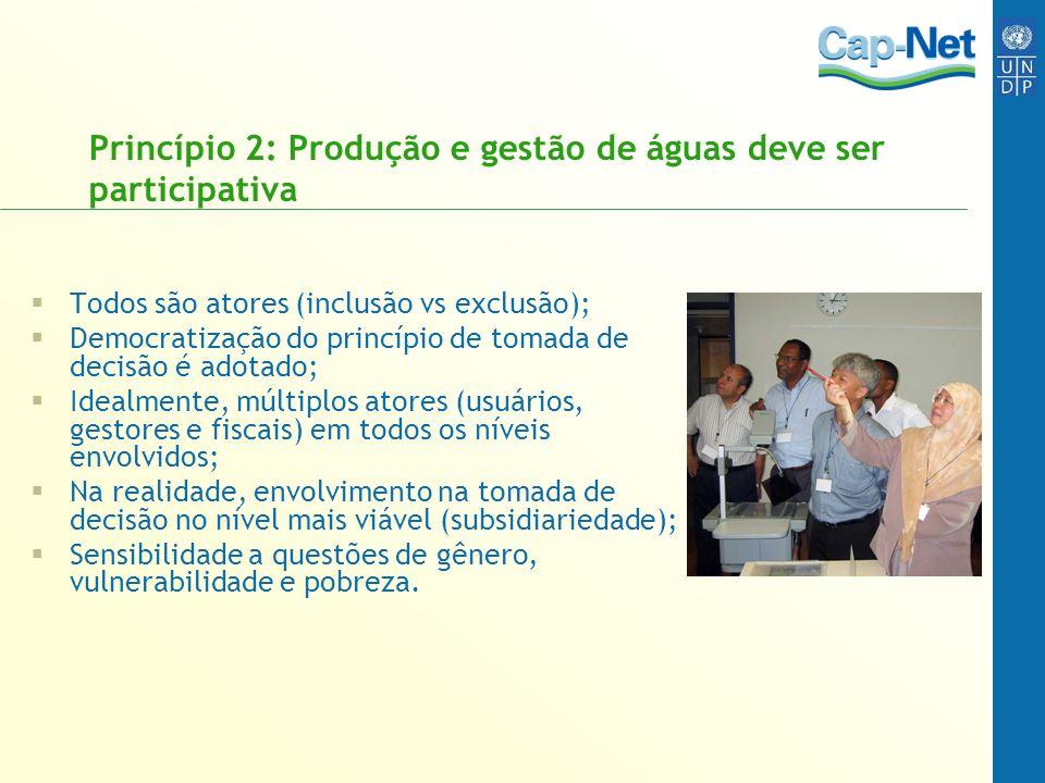 Princípio 2: Produção e gestão de águas deve ser participativa